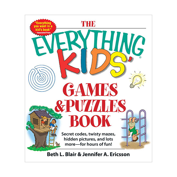 The Everything Kids' Games & Puzzles Book: Secret Codes, Twisty Mazes, Hidden Pictures, and Lots More - For Hours of Fun! (Paperback)