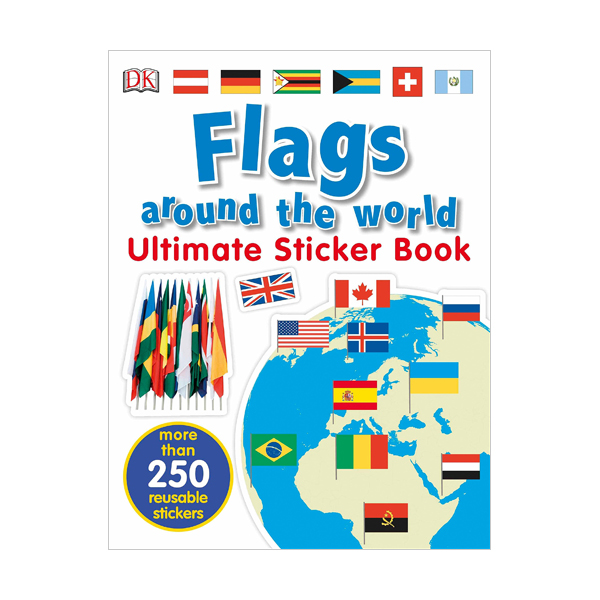 Ultimate Sticker Book : Flags Around the World (Paperback)