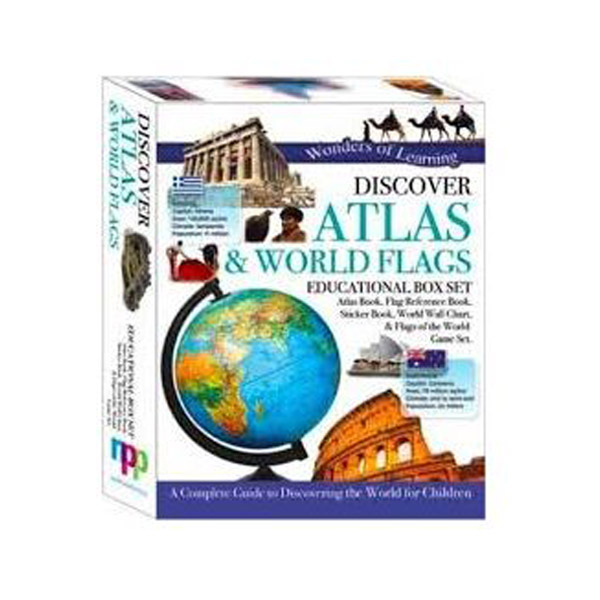 Wonders of Learning : Discover Atlas & World Flages - Educational Box Set (Hardcover, 영국판)