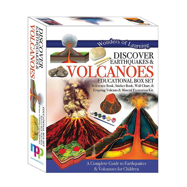 Wonders of Learning : Discover Earthquakes and Volcanoes - Educational Box Set (Hardcover)