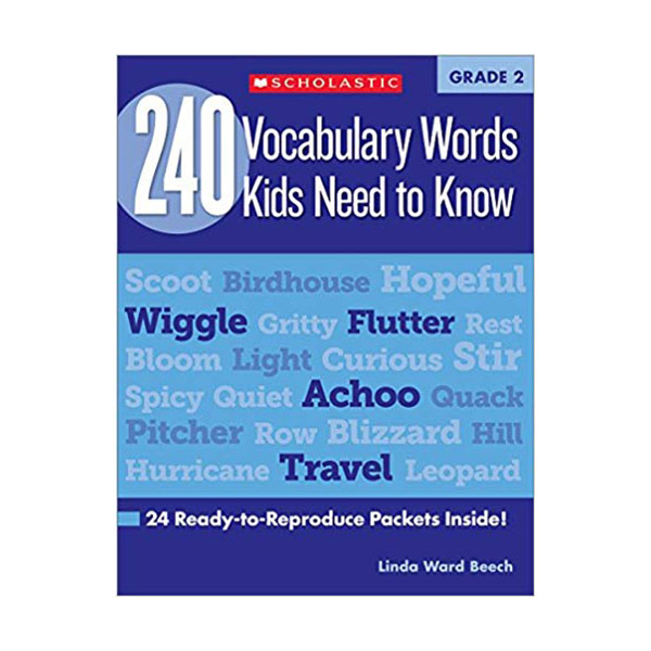 240 Vocabulary Words Kids Need to Know Grade 2 (Paperback, Workbook)