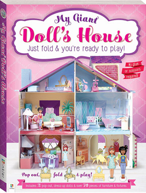 My Giant Doll's House : Just Fold & You're Ready to Play! (Paperback)