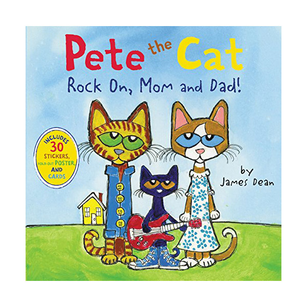 RL 1.9 : Pete the Cat : Rock On, Mom and Dad! (Paperback)