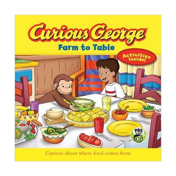 RL 3.1 : Curious George Series : Curious George Farm to Table (Paperback)