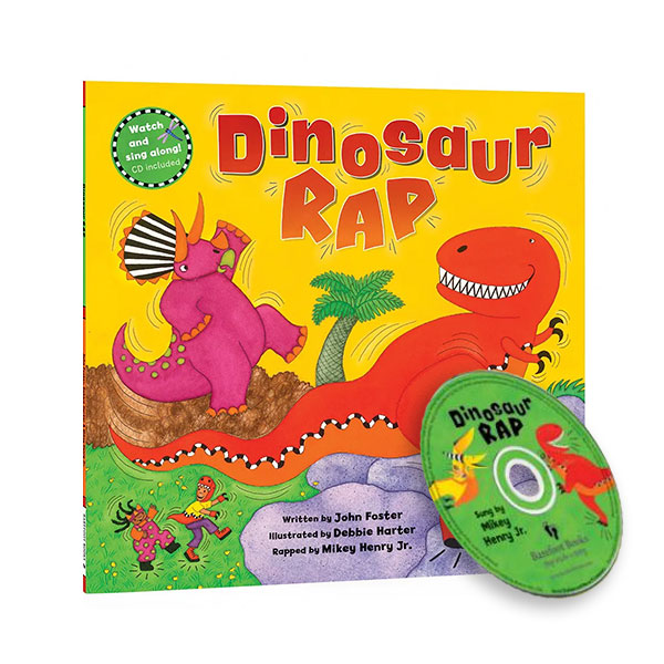 Watch and Sing Along : Dinosaur Rap (Paperback+CD)