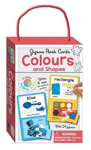 Colours & Shapes Building Blocks - Jigsaw Flash Cards (Cards)