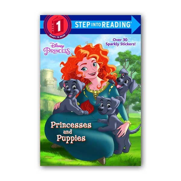 RL 1.0 : Step into Reading 1 : Disney Princess : Princesses and Puppies (Paperback)