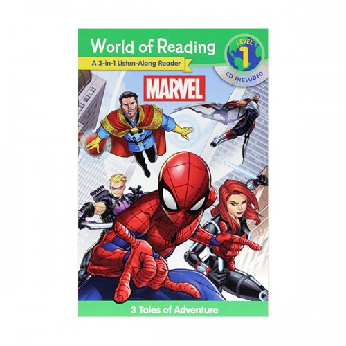 World of Reading Level 1 : A 3-in-1 Listen-Along Reader : Marvel : 3 Tales of Adventure (Paperback & CD)