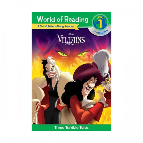 World of Reading Level 1 : 3-in-1 Listen-Along Reader : Villains (Book & CD)