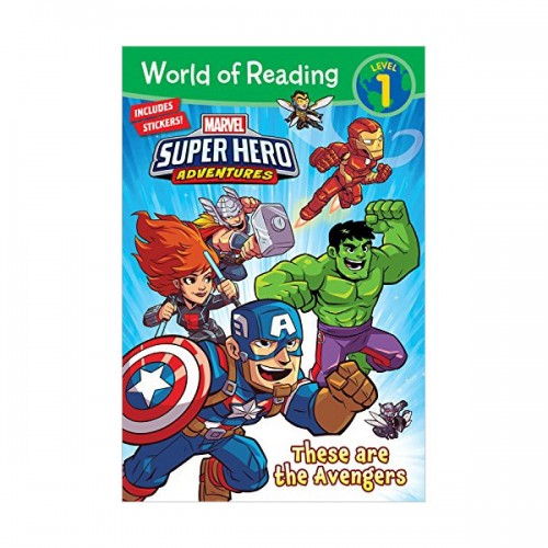 World of Reading Level 1 : Marvel Super Hero Adeventures : These are the Avengers (Paperback)