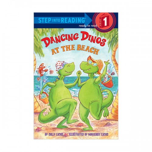 RL 1.4 : Step Into Reading 1 : Dancing Dinos at the Beach (Paperback)