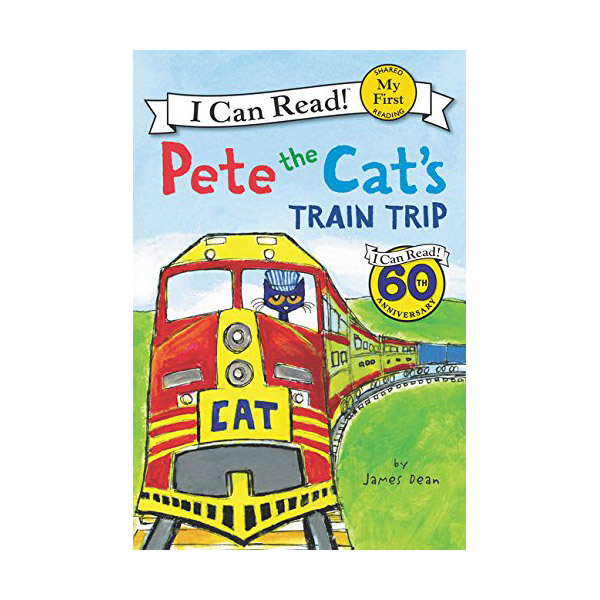 RL 1.7 : My First I Can Read : Pete the Cat's Train Trip (Paperback)