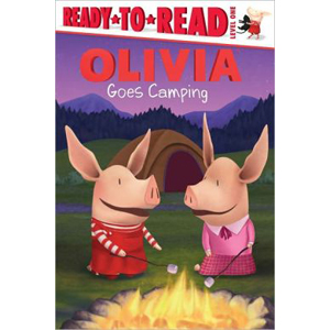 RL 1.8 : Ready to Read Level 1 : Olivia Goes Camping (Paperback)