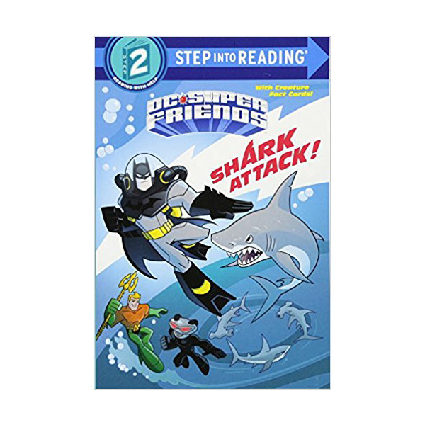 RL 2.0 : Step into Reading 2 : DC Super Friends : Shark Attack! (Paperback)