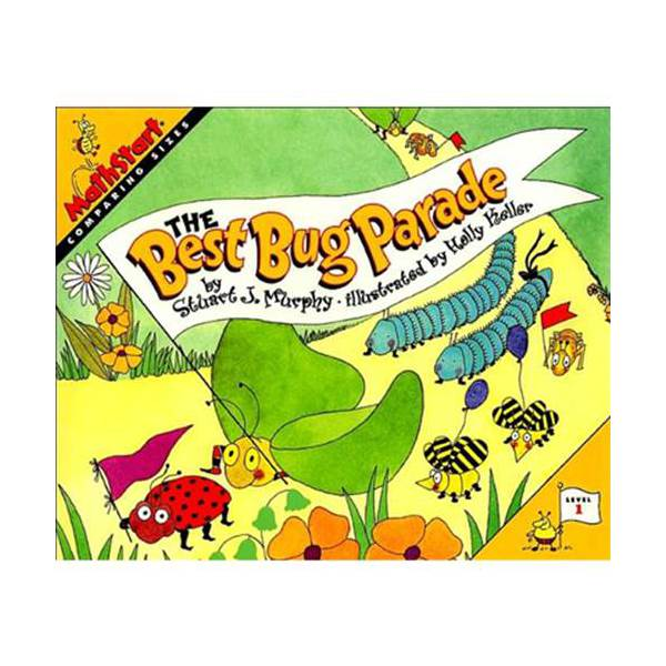RL 2.2 : MathStart Level 1 : The Best Bug Parade: Comparing Sizes (Paperback)
