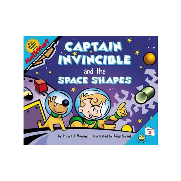 RL 2.2 : MathStart Level 2 : Captain Invincible and the Space Shapes: Three Dimensional Shapes (Paperback)
