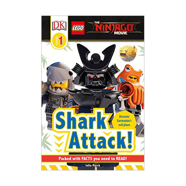 RL 2.5 : DK Readers Level 1 : The LEGO NINJAGO MOVIE : Shark Attack! (Paperback)