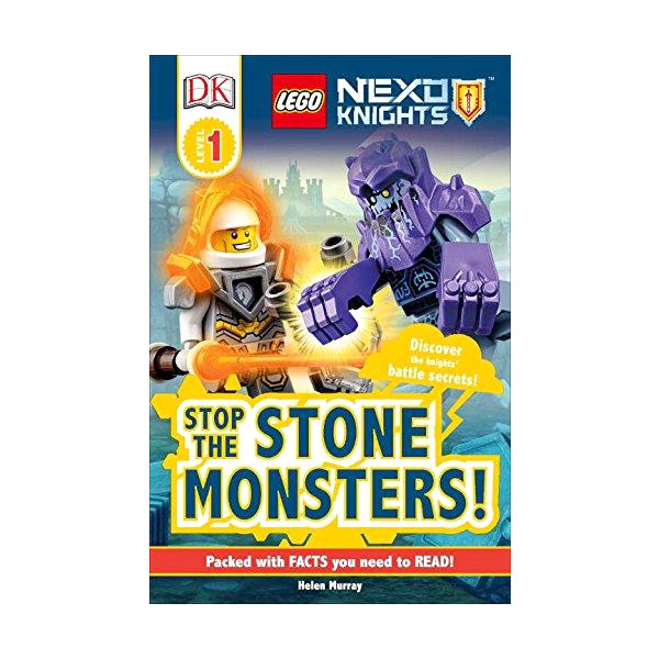 RL 2.5 : DK Readers Level 1: Lego Nexo Knights Stop the Stone Monsters! (Paperback)