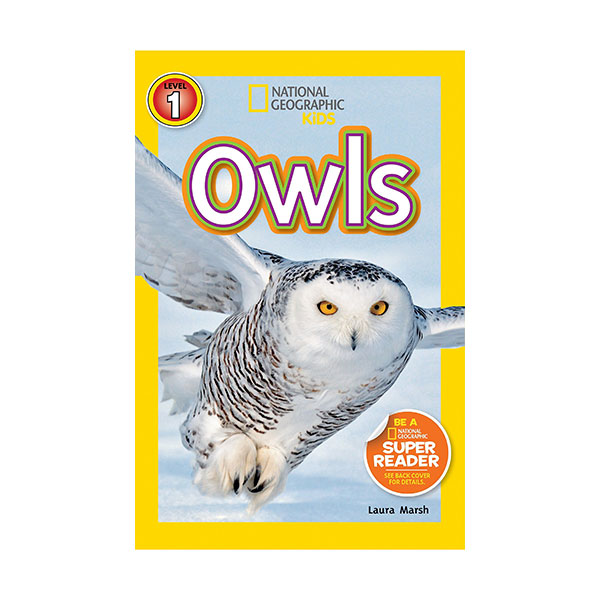RL 2.8 : National Geographic Kids Readers Level 1 : Owls (Paperback)
