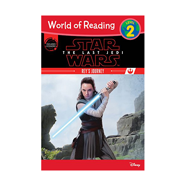 RL 2.8 : World of Reading Level 2 : Star Wars: The Last Jedi: Rey's Journey (Paperback)