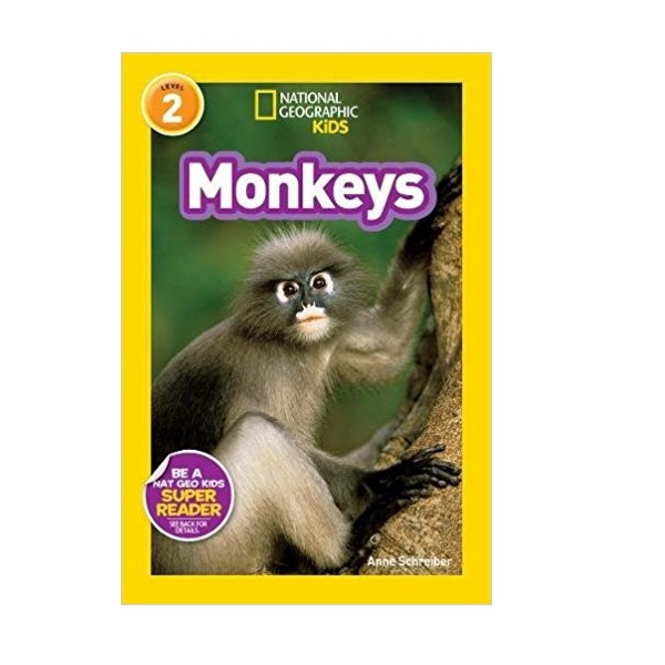 RL 3.1 : National Geographic kids Readers Level 2 : Monkeys (Paperback)