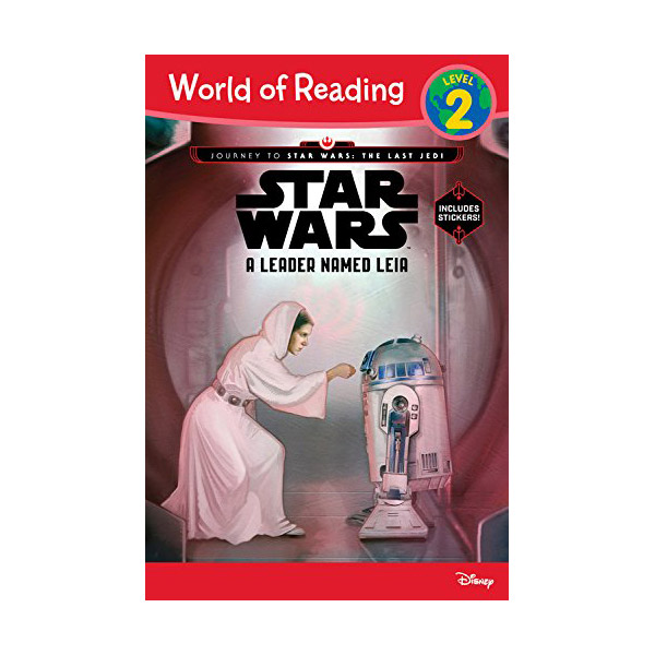 RL 3.5 : World of Reading Level 2 : Star Wars: The Last Jedi: A Leader Named Leia (Paperback)