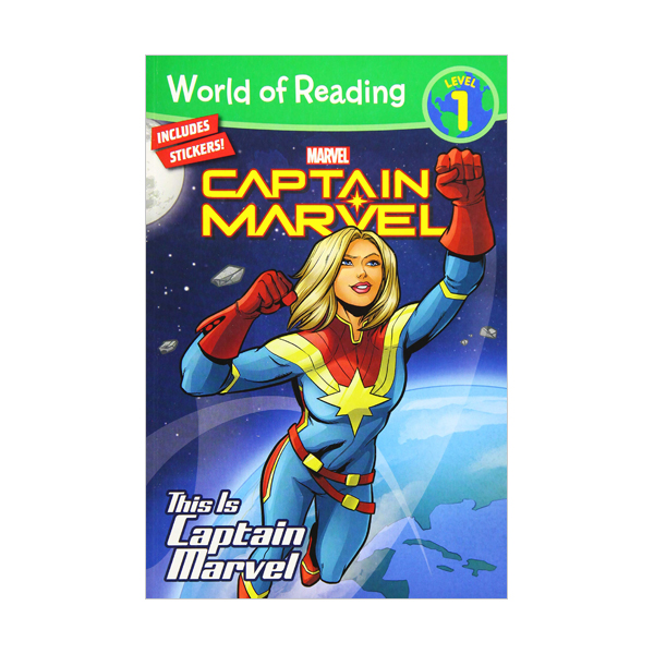 World of Reading Level 1 : This is Captain Marvel (Paperback)