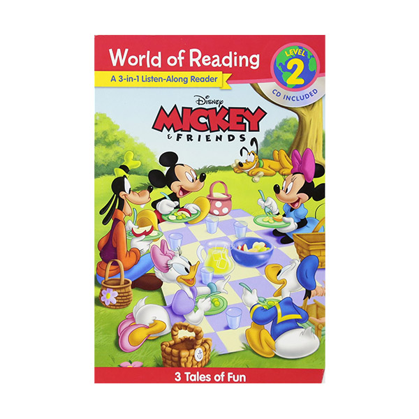 World of Reading Level 2 : Disney Mickey and Friends : 3-in-1 Listen-Along Reader (Paperback & CD)