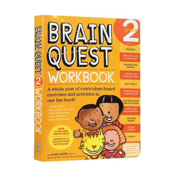 Brain Quest Workbook : Grade 2, Ages 7-8 (Paperback)