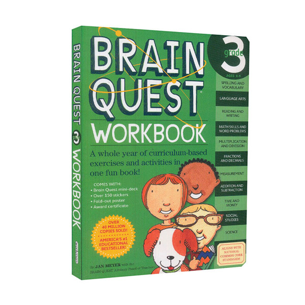 Brain Quest Workbook : Grade 3, Ages 8-9 (Paperback)