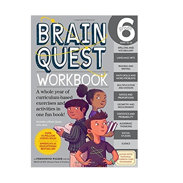 Brain Quest Workbook : Grade 6 (Paperback)