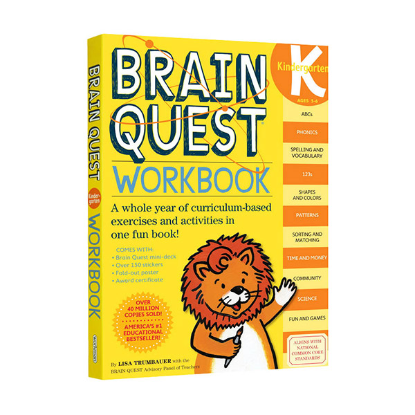 Brain Quest Workbook : Kindergarten, Ages 5-6 (Paperback)