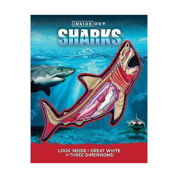 Inside Out Sharks: Look inside a great white in three dimensions! (Paperback)