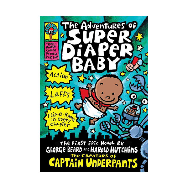 [스콜라스틱] Super Diaper Baby #01 : The Adventures of Super Diaper Baby (Hardcover)