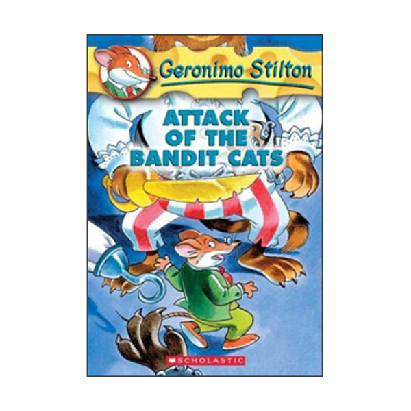 Geronimo Stilton #08 : Attack of the Bandit Cats (Paperback)