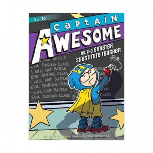 Captain Awesome Series #16 : Captain Awesome vs the Sinister Substitute Teacher (Paperback)
