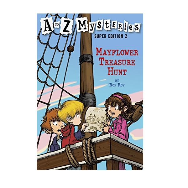 RL 4.1 : A to Z Mysteries Super Edition #2 : Mayflower Treasure Hunt (Paperback)