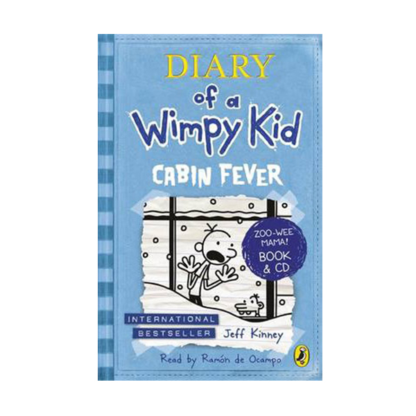 RL 5.8 : Diary of a Wimpy Kid #6 : Cabin Fever (Book & CD)