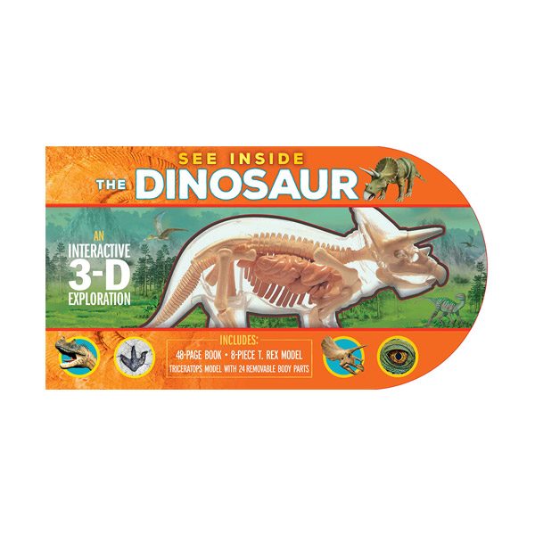 See Inside the Dinosaur : An Interactive 3-D Exploration of a Triceratops (Hardcover)