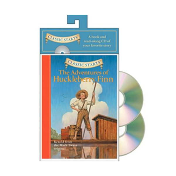 Classic Starts : The Adventures of Huckleberry Finn (Paperback / Paperback+CD)