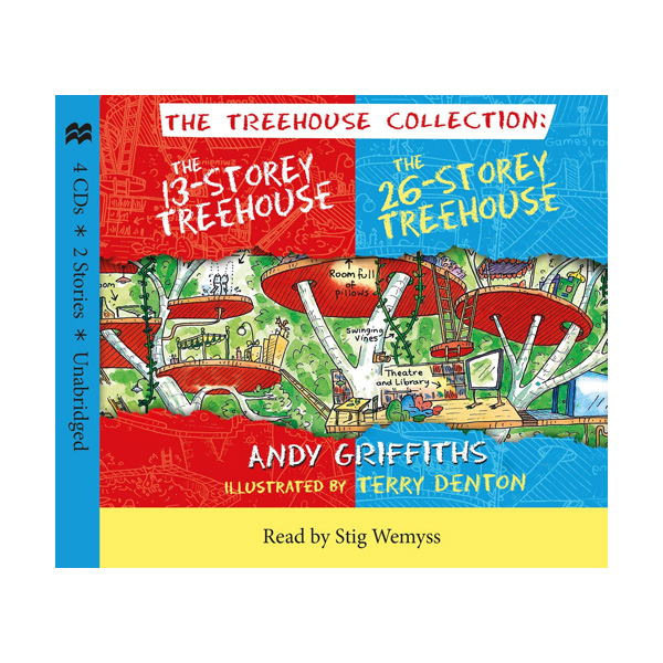 The 13 Storey & 26 Storey Treehouse CD Set (Audio CD 4장, 영국판)
