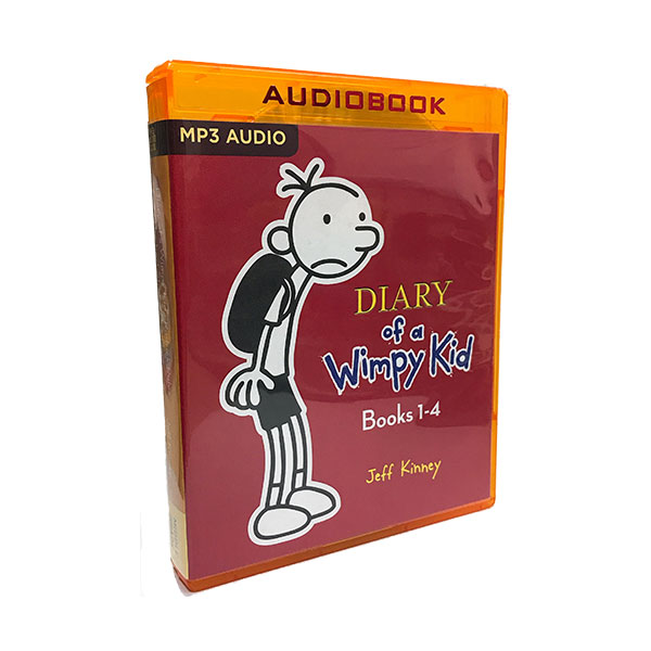 Diary of a Wimpy Kid Box #1-4 (Audio CD, CD Only)