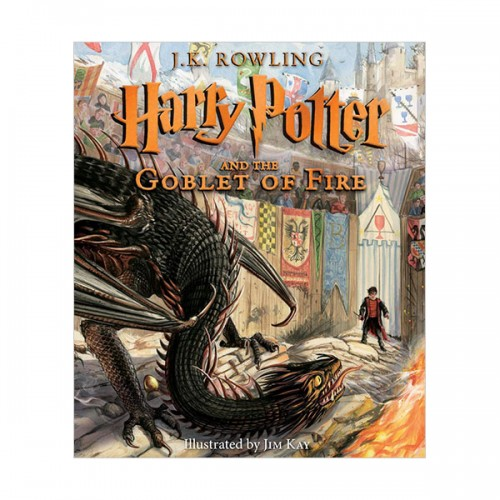 [일러스트판/미국판] 해리포터 #04 : Harry Potter and the Goblet of Fire : The Illustrated Edition (Hardcover)