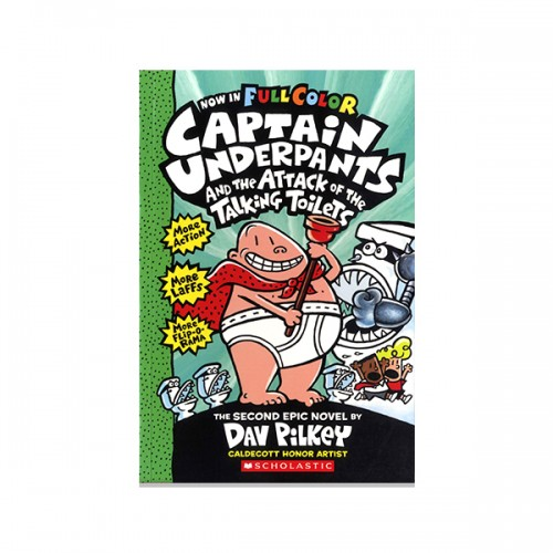 빤스맨(컬러판) #02 : Captain Underpants and the Attack of the Talking Toilets (Paperback)