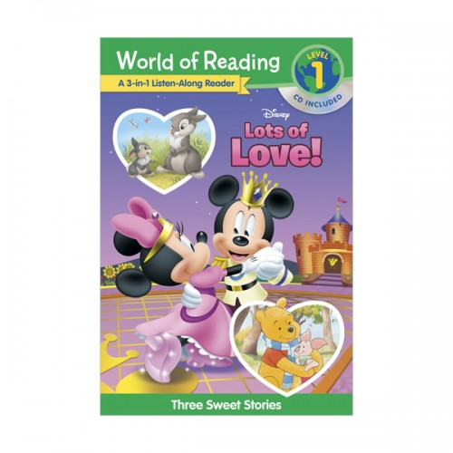 World of Reading Level 1 : 3-in-1 Listen-Along Reader : Disney's Lots of Love Collection (Book & CD)