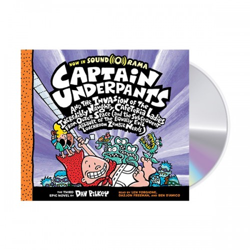 빤스맨 #03 : Captain Underpants and the Invasion of the Incredibly Naughty Cafeteria Ladies from Outer Space (Audio CD, 도서별도구매)