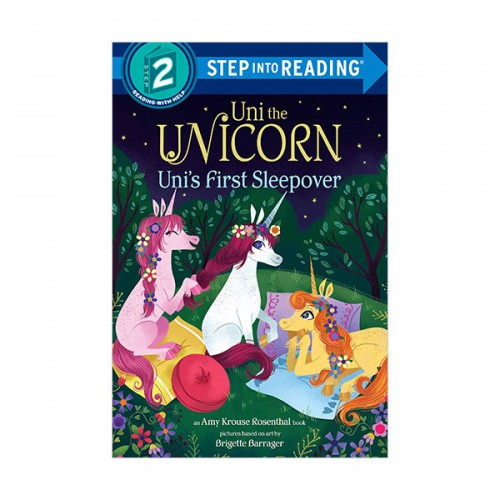 Step Into Reading 2 : Uni the Unicorn Uni's First Sleepover (Paperback)