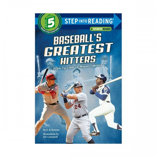 Step Into Reading 5 : Baseball's Greatest Hitters: From Ty Cobb to Miguel Cabrera (Paperback)