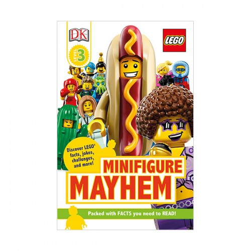 DK Readers Level 3 : LEGO Minifigure Mayhem : Discover LEGO facts, jokes, challenges, and more! (Paperback)