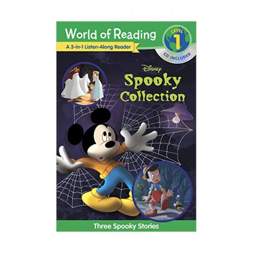 World of Reading Level 1 : 3-in-1 Listen-Along Reader : Disney's Spooky Collection (Book & CD)